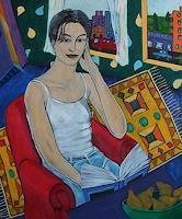 Erik-Slutsky-People-Women-Miscellaneous-Buildings-Contemporary-Art-New-Image-Painting