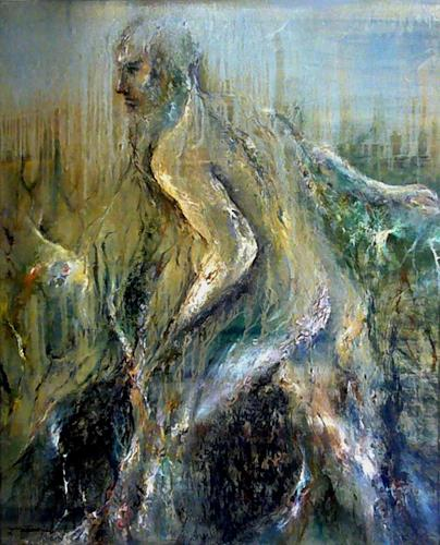 Juan Miguel Giralt, Corporal Arborescence, People: Men, Movement, Neo-Expressionism, Abstract Expressionism