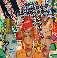 jonathan-franklin-People-Group-Carnival-Contemporary-Art-Neo-Expressionism