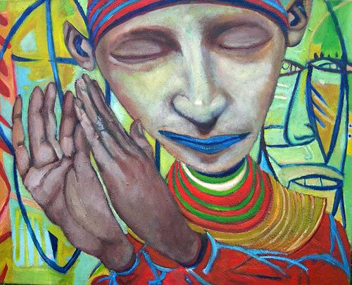 jonathan franklin, Hands Up, Emotions: Joy, Carnival, Neo-Expressionism, Abstract Expressionism