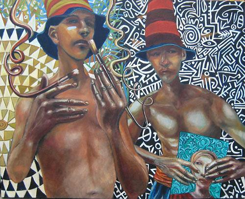 jonathan franklin, Air Brush, People: Men, Emotions: Pride, Neo-Expressionism, Abstract Expressionism