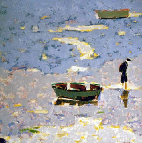 Jean-Pierre CHEVASSUS-AGNES, OCEAN, Landscapes: Sea/Ocean, People: Men, Modern Times, Expressionism