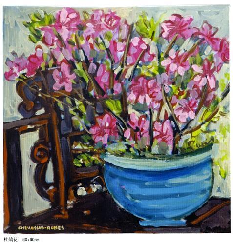 Jean-Pierre CHEVASSUS-AGNES, CHINESE FLOWERS AT HANGZHOU, Plants: Flowers, Symbol, Romanticism, Modern Times