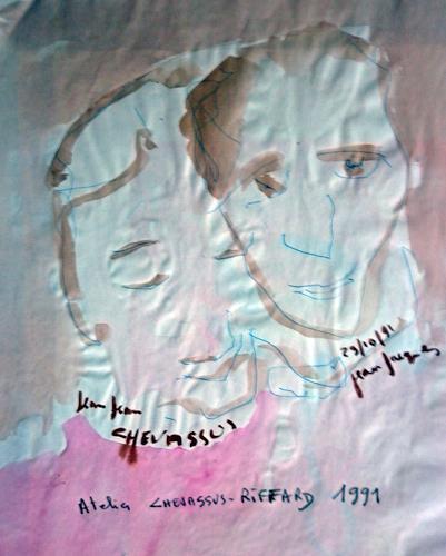 Jean-Pierre CHEVASSUS-AGNES, TWO FRIENDS, People: Group, People: Men, Contemporary Art