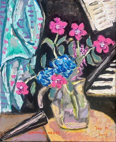 Jean-Pierre CHEVASSUS-AGNES, OEILLETS SAUVAGES, Plants: Flowers, Music: Instruments, Baroque, Expressionism