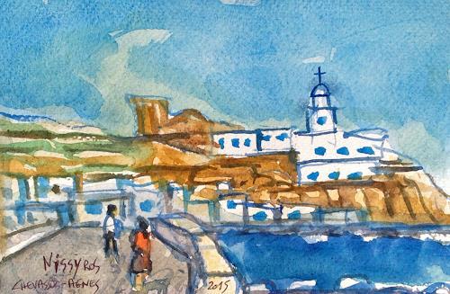 Jean-Pierre CHEVASSUS-AGNES, Santa MARIA Monastery  NISSYROS  (GREECE), Religion, Landscapes: Sea/Ocean, Modern Times