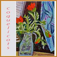 Jean-Pierre-CHEVAssUS-AGNES-Plants-Flowers-Music-Instruments-Modern-Age-Expressive-Realism