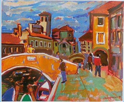 Jean-Pierre CHEVASSUS-AGNES, CHIOGGIA  ITALY, Architecture, Buildings: Houses, Expressive Realism, Expressionism
