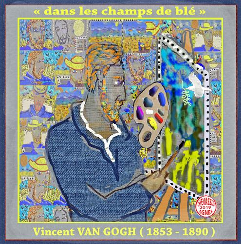 Jean-Pierre CHEVASSUS-AGNES, GUTEN  YAHRE  2019 Vincent VAN GOGH, Parties/Celebrations, Emotions: Love, Contemporary Art