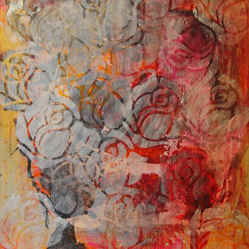 Raphaela C. Näger, Rosenträume, Abstract art, Plants: Flowers, Abstract Art