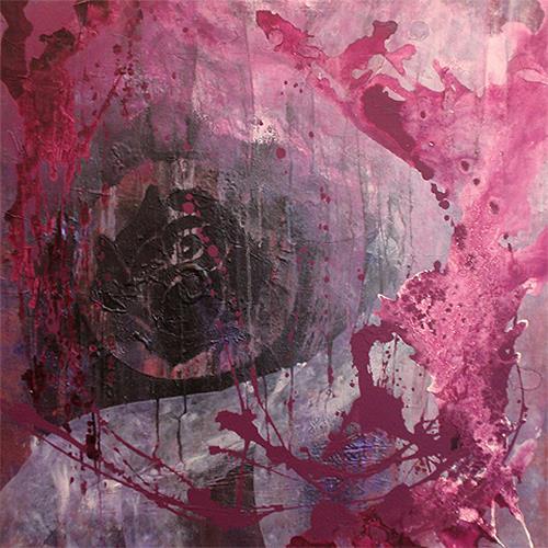 Raphaela C. Näger, Black Rose, Abstract art, Plants: Flowers, Abstract Art