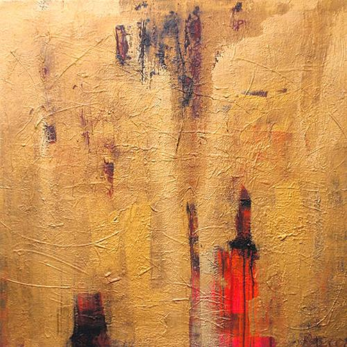 Raphaela C. Näger, Goldstrahl.02, Abstract art, Miscellaneous Emotions, Abstract Art