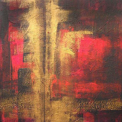 Raphaela C. Näger, Goldstrahl.01, Abstract art, Miscellaneous Emotions, Abstract Art