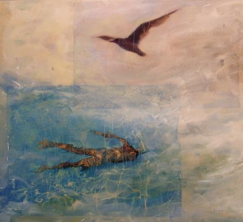 Deborah Maris Lader, By Air or by Sea, Movement, Nature: Water, Post-Surrealism, Expressionism