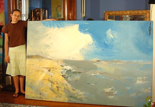 Andrey Bogoslowsky, Sea view, northern seas., Landscapes: Sea/Ocean, Leisure, Expressionism