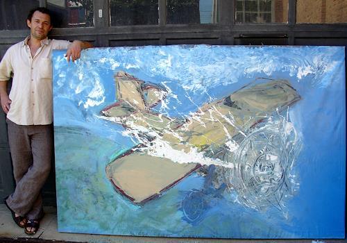 Andrey Bogoslowsky, Airplane, Emotions: Joy, Game, Neo-Expressionism