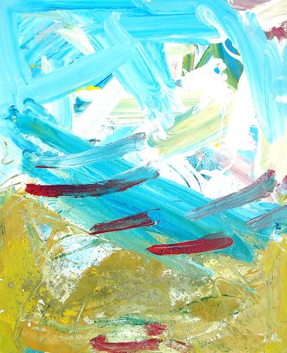 Andrey Bogoslowsky, Fantastic sea view, Abstract art, Landscapes: Summer, Neo-Expressionism