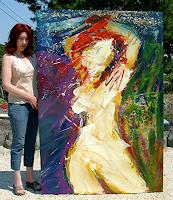 Andrey-Bogoslowsky-Erotic-motifs-Female-nudes-Emotions-Pride-Contemporary-Art-Neo-Expressionism