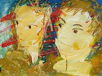 Andrey-Bogoslowsky-Emotions-Safety-People-Couples-Contemporary-Art-New-Image-Painting