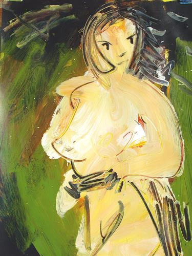 Andrey Bogoslowsky, Winds from the east., Emotions: Fear, Erotic motifs: Female nudes, Neo-Expressionism, Expressionism