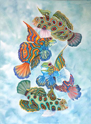 Lucy Arnold, Dragonets, Animals: Water, Nature: Water, Expressive Realism