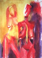 Carmen-Kroese-Erotic-motifs-Female-nudes-Abstract-art-Contemporary-Art-Contemporary-Art