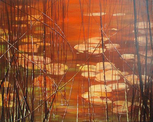 Carmen Kroese, Stille, Nature: Water, Landscapes: Sea/Ocean, Contemporary Art, Expressionism