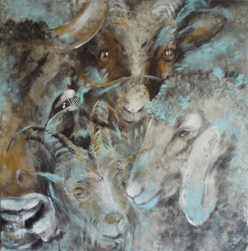 Carmen Heidi Kroese, Vier Milchlieferanten, Animals: Land, Still life, Contemporary Art