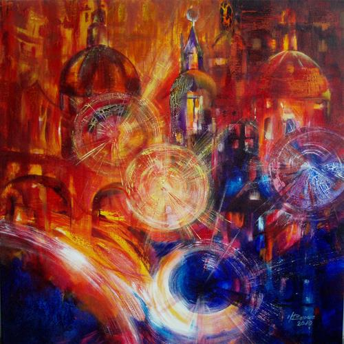 Carmen Kroese, Dezemberlicht, Architecture, Abstract art, Contemporary Art, Expressionism