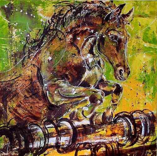 Carmen Heidi Kroese, Adonka, Animals: Land, Leisure, Contemporary Art, Expressionism