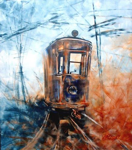 Carmen Kroese, Tram Nr. 17, Technology, Miscellaneous Traffic, Contemporary Art, Abstract Expressionism