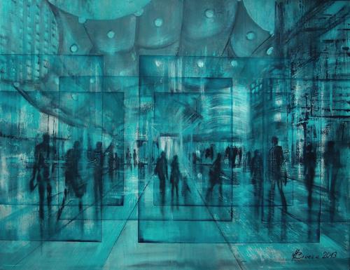 Carmen Kroese, Paris La Défense, Miscellaneous People, Miscellaneous Buildings, Contemporary Art, Abstract Expressionism