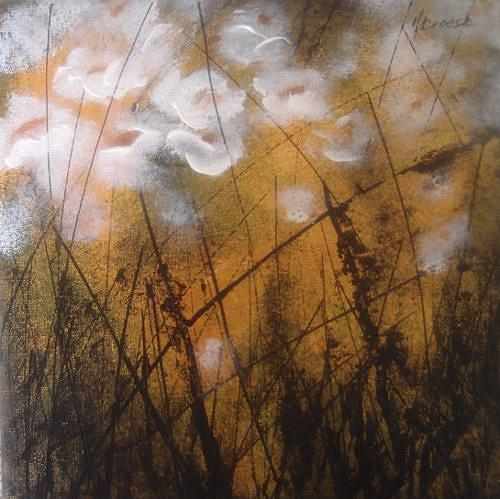 Carmen Kroese, Weisser Mohn, Plants: Flowers, Nature: Earth, Contemporary Art, Expressionism