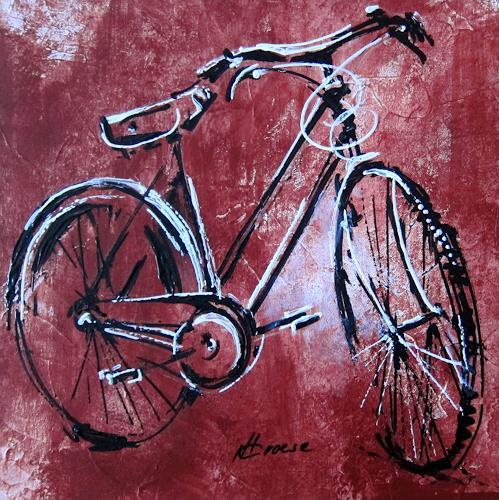 Carmen Kroese, altes Fahrrad, Movement, Decorative Art, Contemporary Art, Abstract Expressionism