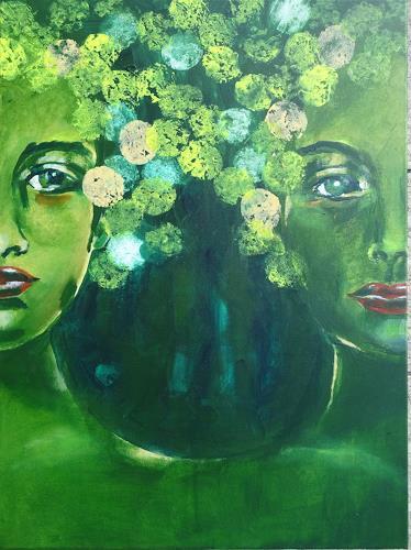 Carmen Heidi Kroese, Schwestern, People: Women, People: Faces, Expressive Realism, Expressionism