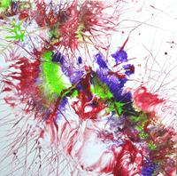 Carmen-Heidi-Kroese-Plants-Flowers-Abstract-art-Modern-Age-Abstract-Art-Action-Painting