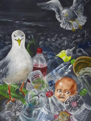 Carmen Heidi Kroese, Spuren der Zivilisation, Nature: Earth, Emotions: Depression, Expressive Realism