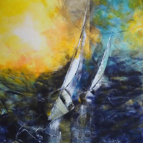 Carmen Heidi Kroese, stürmisch, Verkehr: Ship, Sports, Expressive Realism, Expressionism