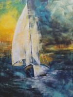 Carmen-Heidi-Kroese-Landscapes-Sea-Ocean-Sports-Modern-Age-Expressive-Realism