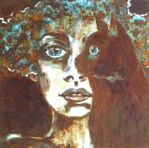 Carmen Heidi Kroese, Ein Herz und eine Seele, People: Women, People: Faces, Expressive Realism, Expressionism