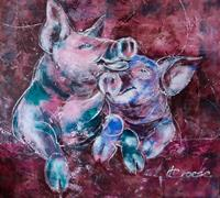 Carmen-Heidi-Kroese-Animals-Land-Emotions-Joy-Modern-Age-Expressive-Realism
