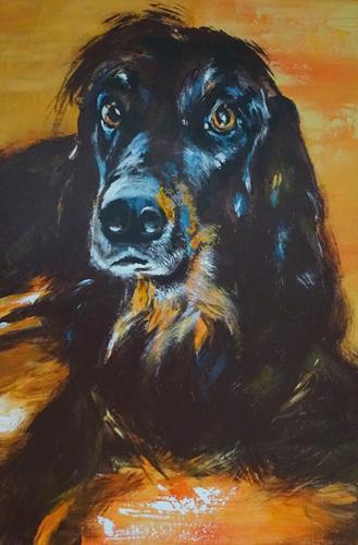 Carmen Heidi Kroese, Sammy, Animals: Land, Emotions: Love, Expressive Realism, Expressionism