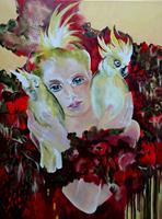 Carmen-Heidi-Kroese-People-Women-Animals-Air-Modern-Age-Expressive-Realism