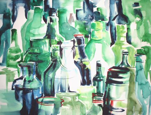 Carmen Heidi Kroese, Flaschendepot, Still life, Others, Expressionism