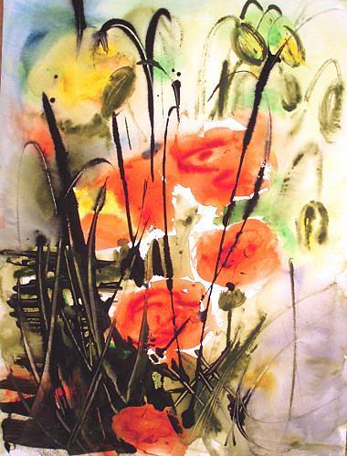 Carmen Heidi Kroese, Mohnblumen, Nature: Miscellaneous, Plants: Flowers, Abstract Art, Expressionism