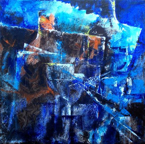 Carmen Heidi Kroese, Flaschen-und Gläserstillleben, Abstract art, Still life, Abstract Art, Abstract Expressionism