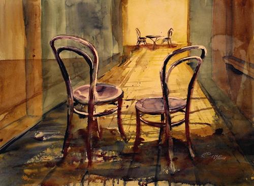 Carmen Kroese, Warten, Still life, Contemporary Art, Expressionism