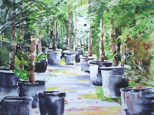 Carmen Kroese, Palmengarten, Nature: Earth, Miscellaneous Landscapes, Contemporary Art, Expressionism