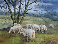 Kerstin-Birk-Landscapes-Autumn-Animals-Land-Modern-Times-Realism