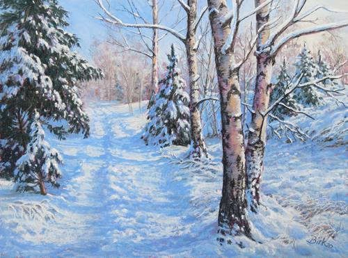 Kerstin Birk, Wintertraum, Landscapes: Winter, Plants: Trees, Realism, Expressionism